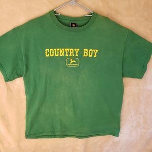 Vintage John Deere Men's tee shirt size large